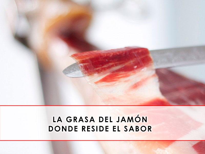 la grasa del jamón