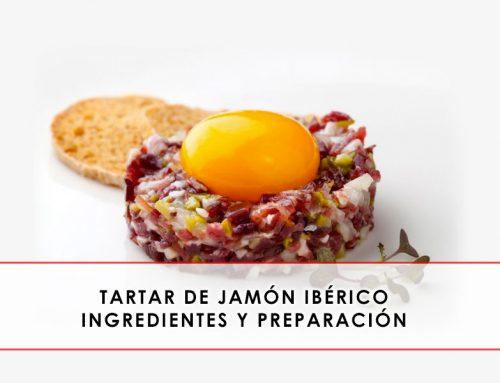 Tartar de jamón ibérico. Ingredientes y preparación