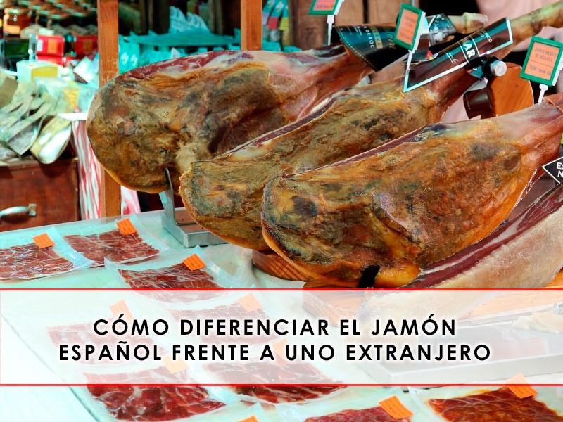 Diferenciar el jamón español frente a uno extranjero