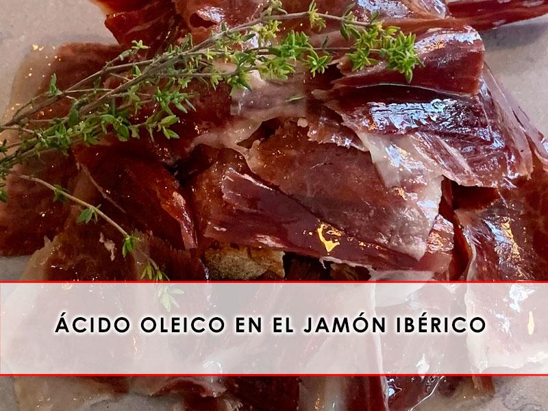 Ácido oleico en el jamón ibérico Grupo Julián Becerro